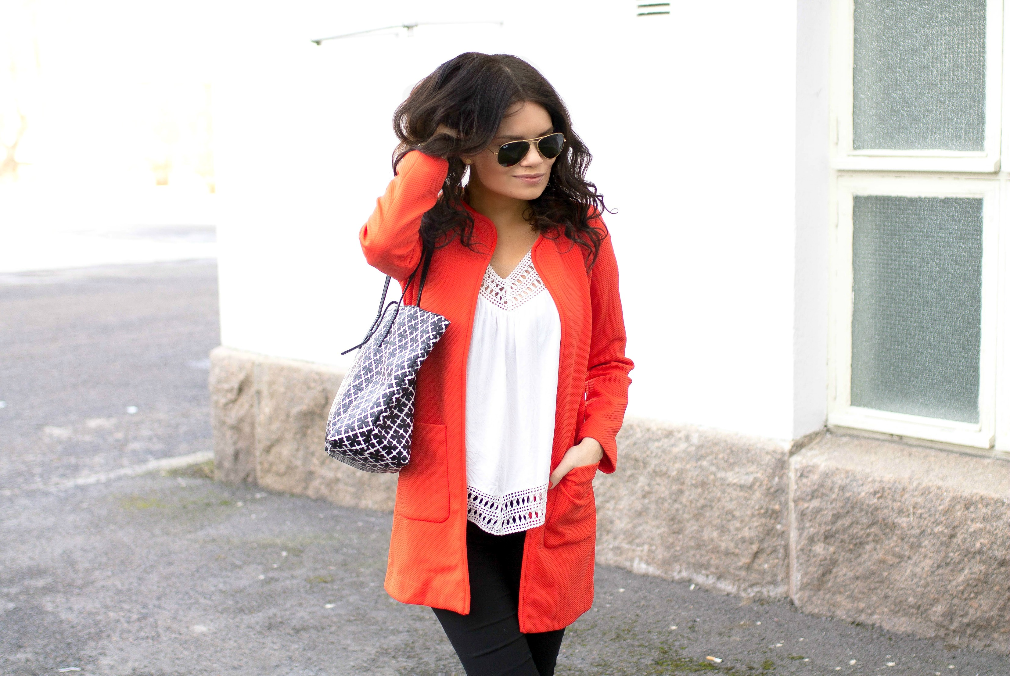 red jacket outfit