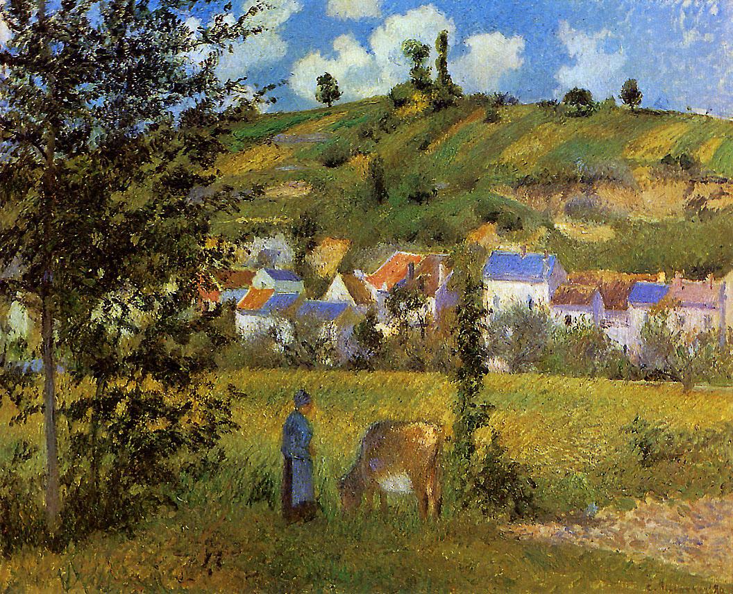 Landscape at Chaponval by Camille Pissarro, 1880