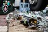 Getränkelaster verliert seine Ladung in Idstein 05.04.16