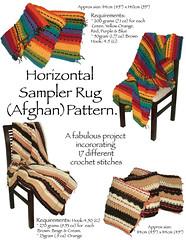 Horizontal Sampler Rug (afghan) pattern