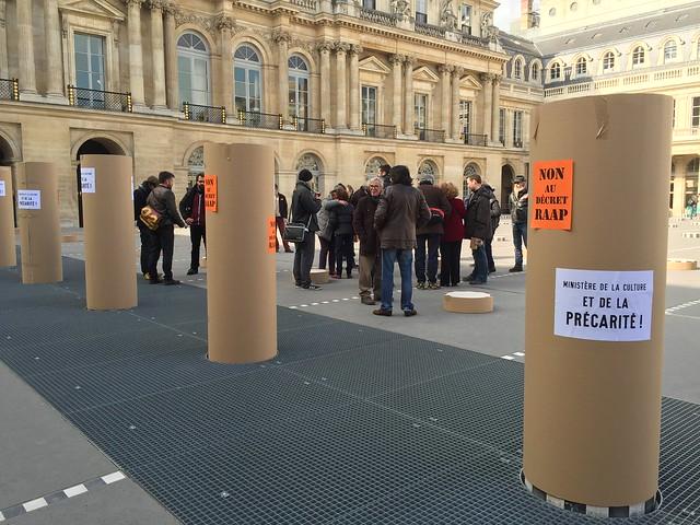 Action des artistes auteurs contre la réforme RAAP