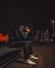 Aesthetic Rain Comprised of Grain.  Model: Kinsley Cook ( @kinsley_cook )  ______________________ #portrait #model #portraits_universe #portraitpage #embreymagazine #portraitgrid  #vintage #instagood #top_portraits #twerking_portraits #night #moodygrams #