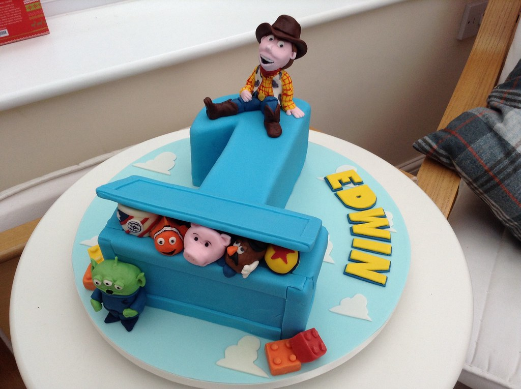 Toy Story Box Number 1 Cake