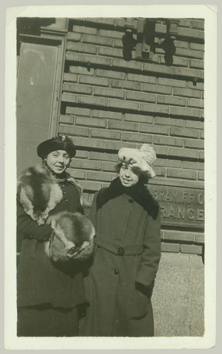 Two girls in furs