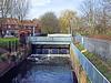 Downstream Of The The Mereway Weir, River Crane, Twickenham - London.