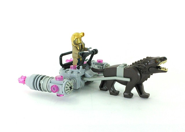 Pharoh Driving A Pink Crystals & Warg Powered Hoverboard