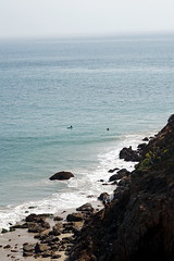 Surfers at Dume Beach, Point Dume State Park, Mailbu, California