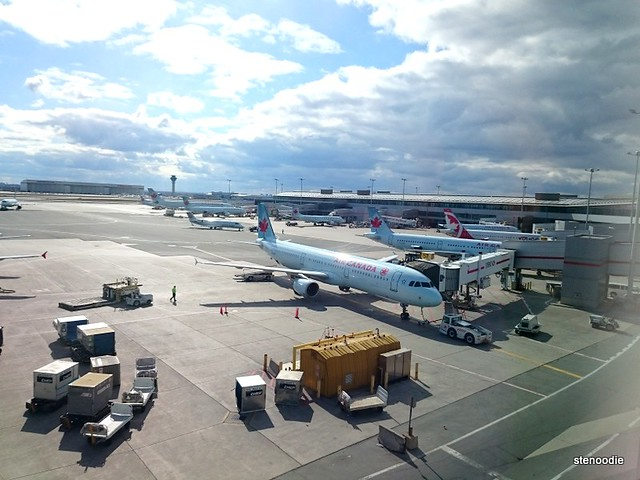 View of planes on the tarmac