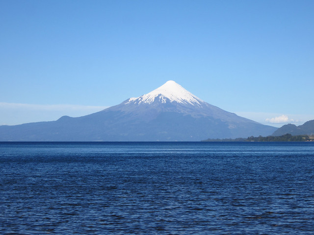 View of Volcán Osorno While Kayaking in Lago Llanquihue, near Puerto Varas, Chile
