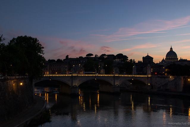 Sunset in Tevere - Rome