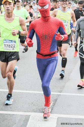 Spiderman in Taipei Marathon (2)