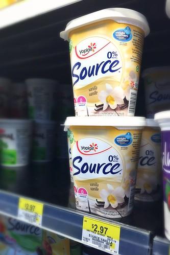 Yoplait Source yogurts at Walmart