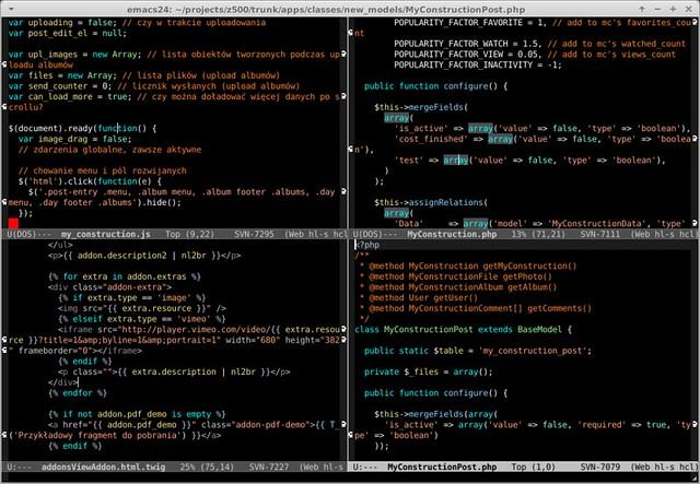 Imagen de Linux Screenshots, Emacs