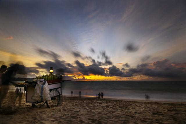 Jimbaran Beach, Bali at sunset