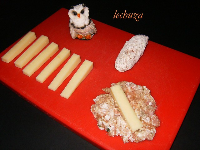 Rollitos de carne picada-añadir queso