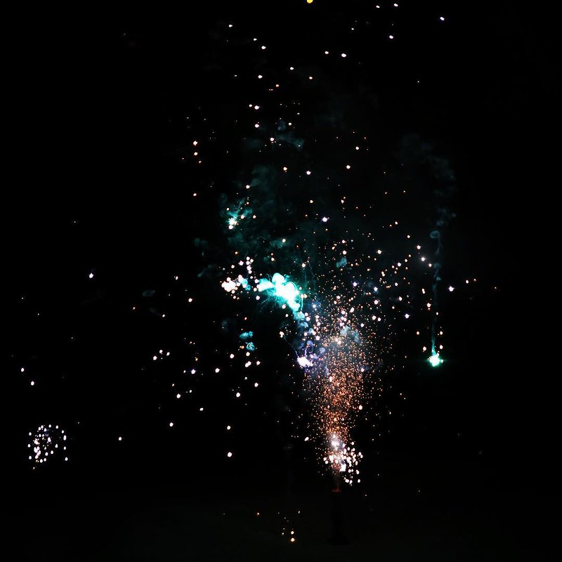 New Year's Eve Fireworks! Kids had a blast doing a pyrotechnics show for us!!!