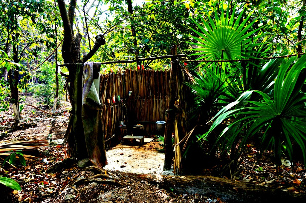 Mayan Camp Shower
