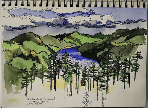 canada painting sketch bc drawing sketchbook victoria watercolour sharpie scenicview colouredpencils malahathighway pleinairwatercoloursketch
