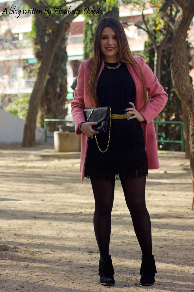 abrigo rosa ZARA falda bershka botines MARYPAZ HEELSANDROSES (5)