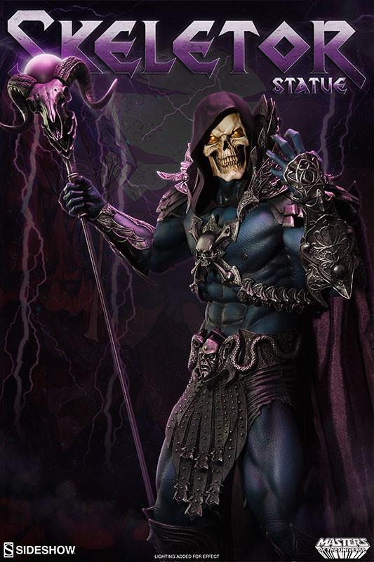 Sideshow Collectibles【骷髏王】太空超人 Skeletor 全身雕像作品