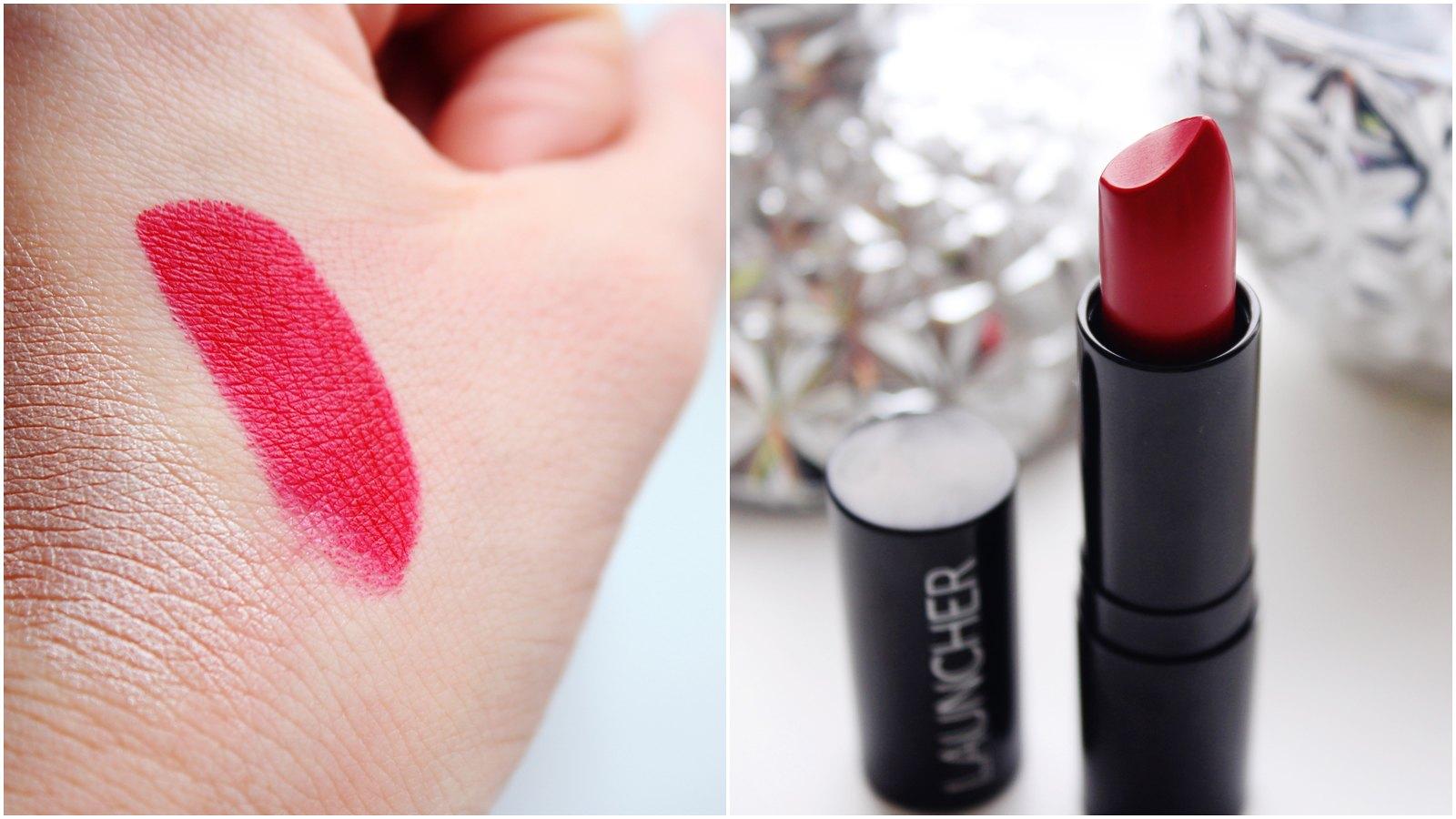 Model Launcher red lipstick