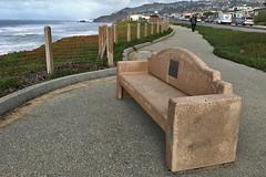 Pacifica Pier - Esplanade Ave bench