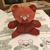 #origami #TeddyBear designed by Quentin Trollip, folded by me. Diagrams in Origami Sequence.