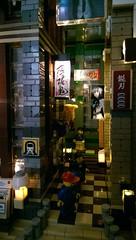 narrow street scene...