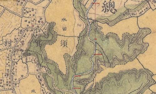 白鳳道ふれあいの道ルート 迅速測図