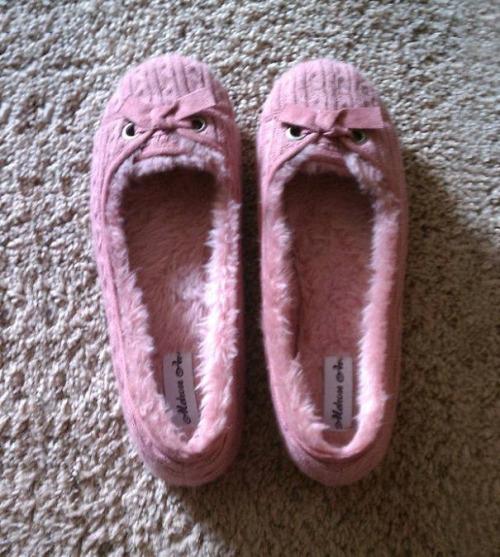 imagen graciosa de zapatillas con humor