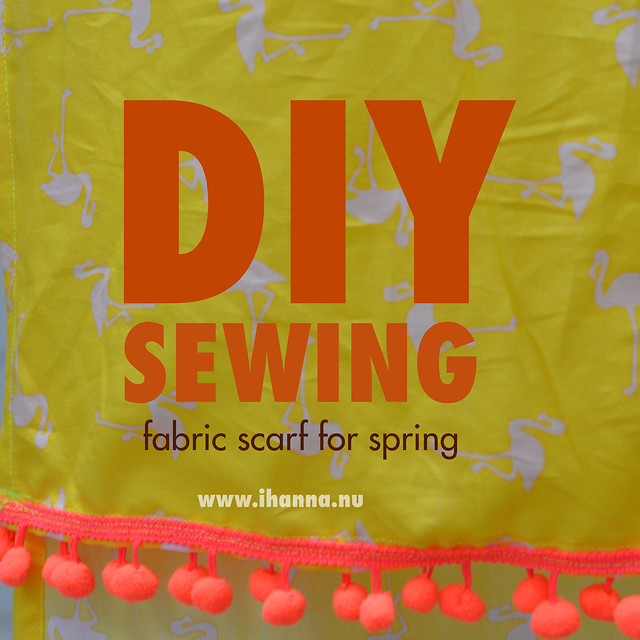DIY Sewing project for beginners: FABRIC SCARF for spring