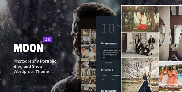 Moon v4.0.1 - Photography Portfolio, Blog & Shop for Creatives