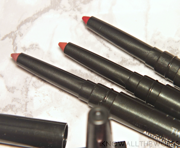 Lise Watier Twist & Sharp Lip Liners Blush, Coraline, and Eclarate (1)