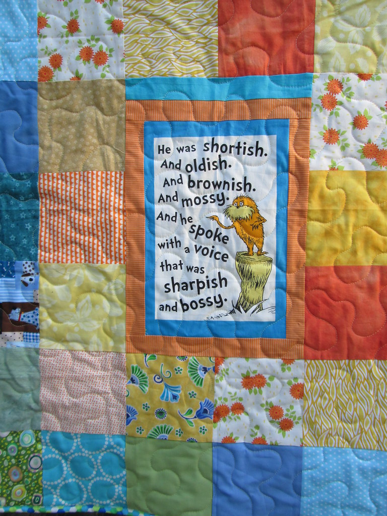 Lorax Baby Quilt for Donation