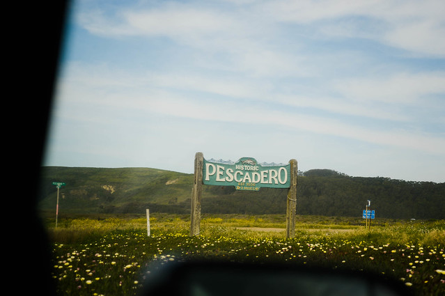 old town pescadero sign