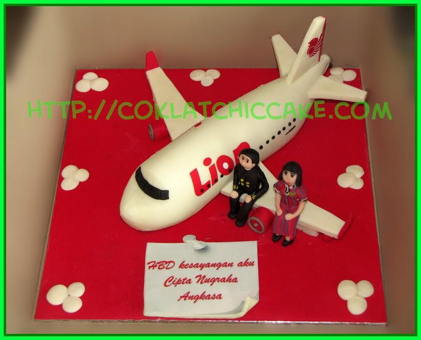 Cake Pesawat Lion