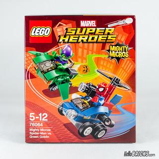 REVIEW LEGO 76064 Mighty Micros Spider-Man vs Green Goblin (HelloBricks)