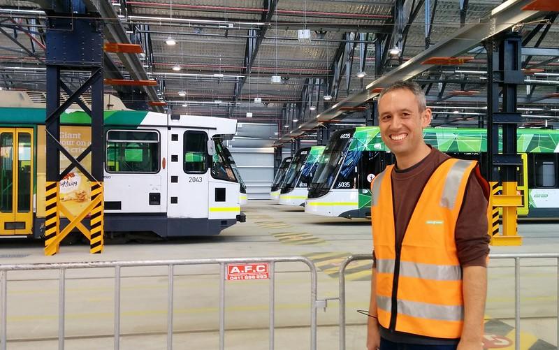Daniel at Preston tram depot
