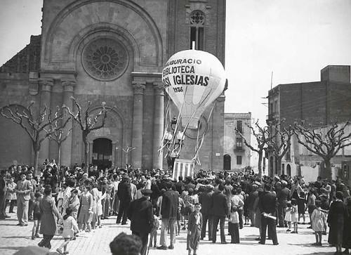 12 abril 1936 inauguració biblioteca Ignasi Iglésias plaça Orfila