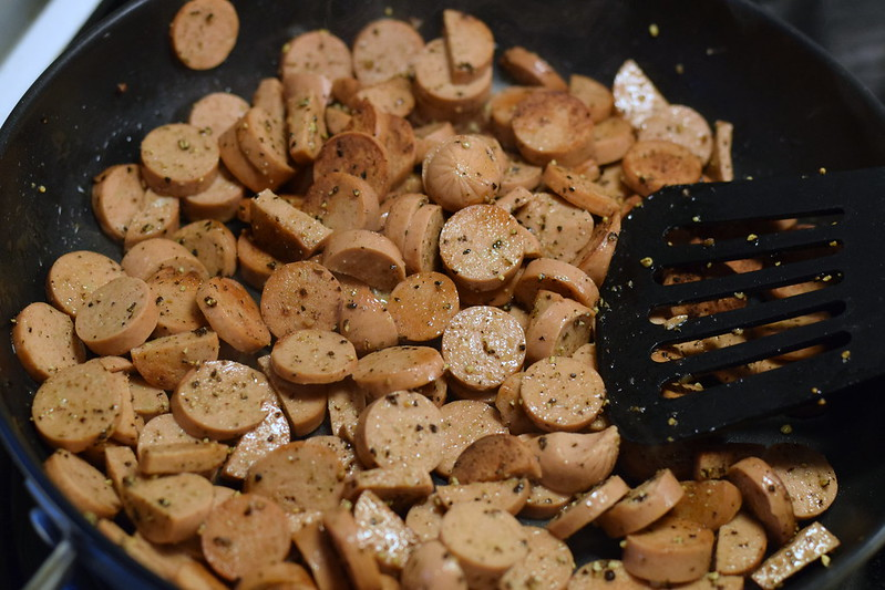 vegetarisk korvstroganoff