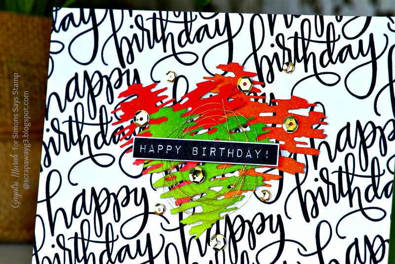 Happy Birthday closeup 1