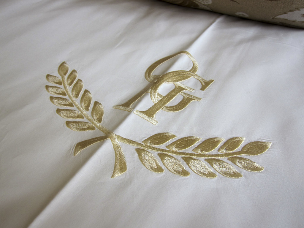 Hotel branding on the sheets