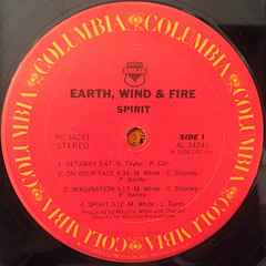 EARTH,WIND & FIRE:SPIRIT(LABEL SIDE-A)
