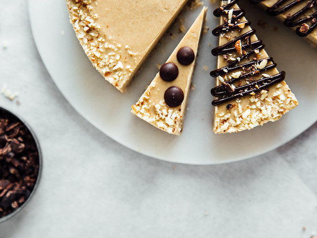 Almost raw crunchy caramel slice