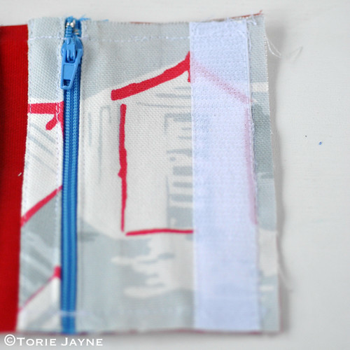 Boys Handmade folded Zip Wallet tutorial 6