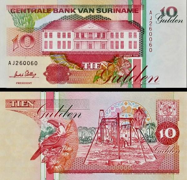 10 Guldenov Surinam 1996
