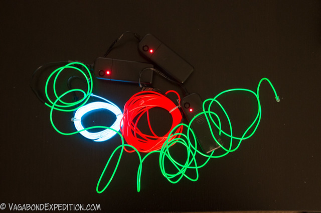 some different colors of el-wire - or electroluminescent wire