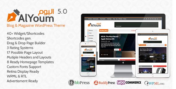 AlYoum v5.9.2 - Retina Magazine & Blog WordPress Theme