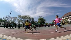 Varee school students racing during sports day