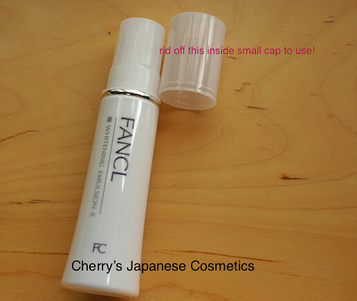Fancl Emulsion Cap in Cap